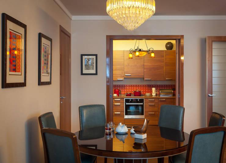 Новое ар деко: Столовые комнаты в . Автор – МАРИНА БУСЕЛ интерьерный дизайн