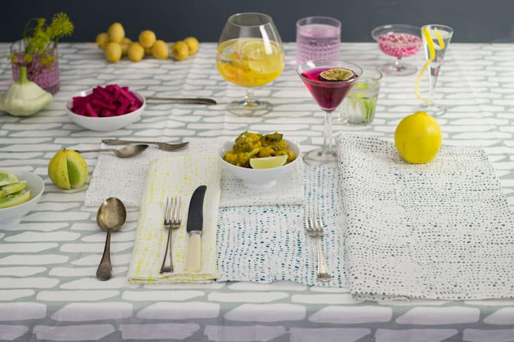 Confetti print napkins:  Dining room by Georgia Bosson