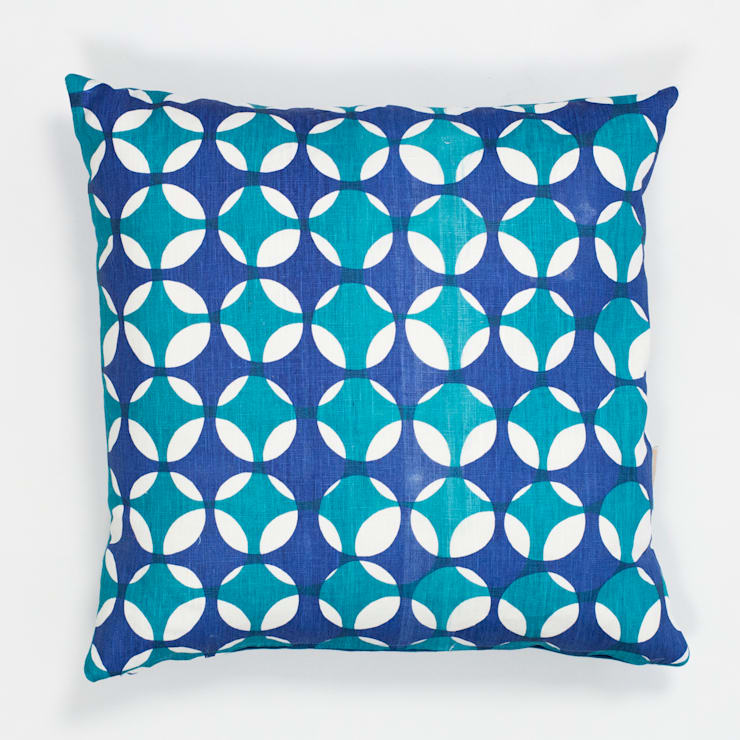 Crosses cushion in Peacock and Moroccan blue:  Household by Georgia Bosson