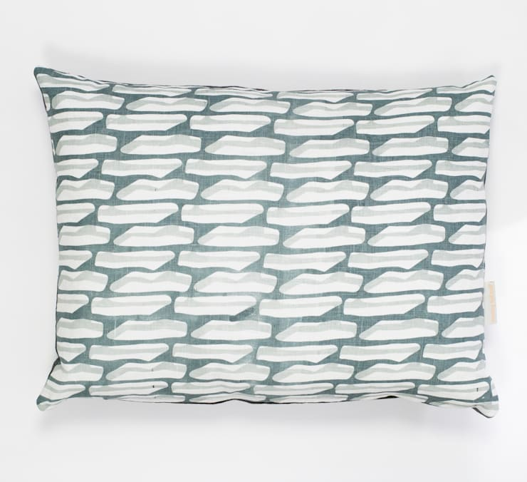 Last print cushion in Grey:  Household by Georgia Bosson