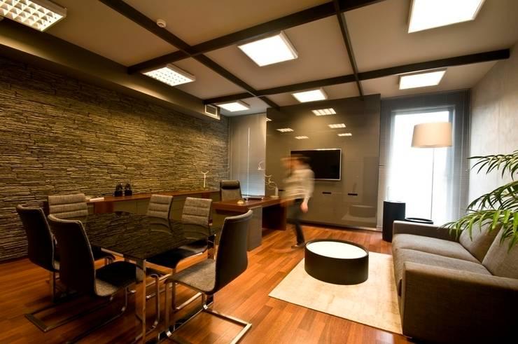 Biuro w Gdynia 2011: styl , w kategorii Domowe biuro i gabinet zaprojektowany przez formativ. indywidualne projekty wnętrz