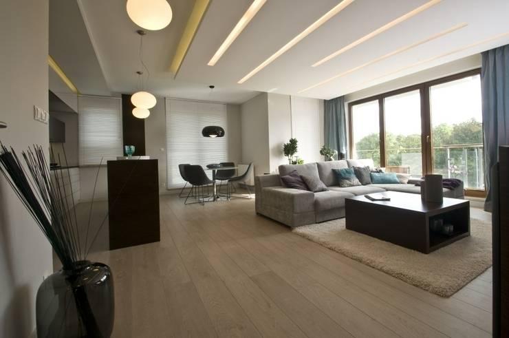 Apartament w Gdańsku 2010: styl , w kategorii Salon zaprojektowany przez formativ. indywidualne projekty wnętrz
