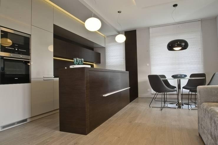 Apartament w Gdańsku 2010: styl , w kategorii Kuchnia zaprojektowany przez formativ. indywidualne projekty wnętrz
