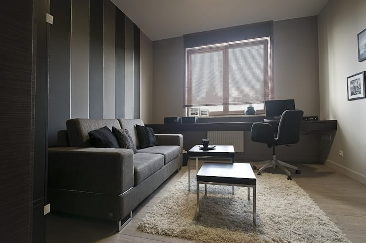 Apartament w Gdańsku 2010: styl , w kategorii Domowe biuro i gabinet zaprojektowany przez formativ. indywidualne projekty wnętrz