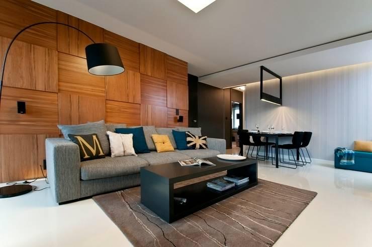 Apartament w Gdynia 2011: styl , w kategorii Salon zaprojektowany przez formativ. indywidualne projekty wnętrz