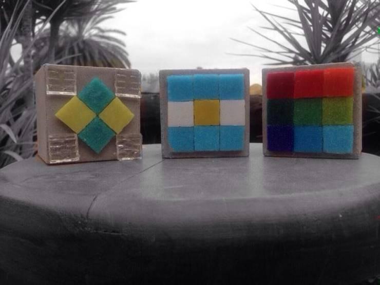 Macetas de cemento 7x7 cm: Jardines de estilo  por ArteSana