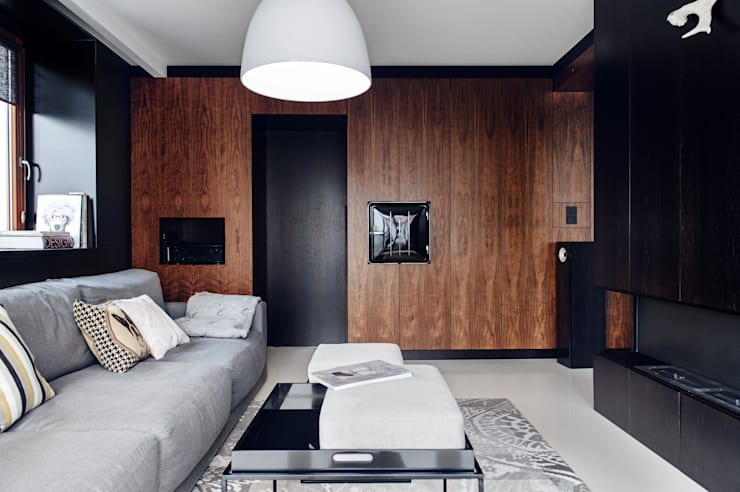 Salas / recibidores de estilo  por formativ. indywidualne projekty wnętrz, Moderno