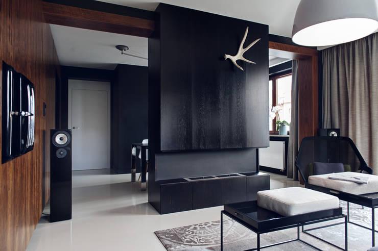 Apartament w Gdyni 2012: styl , w kategorii Salon zaprojektowany przez formativ. indywidualne projekty wnętrz,