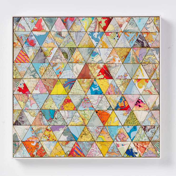 Patchwork world two:  Artwork by Bombus