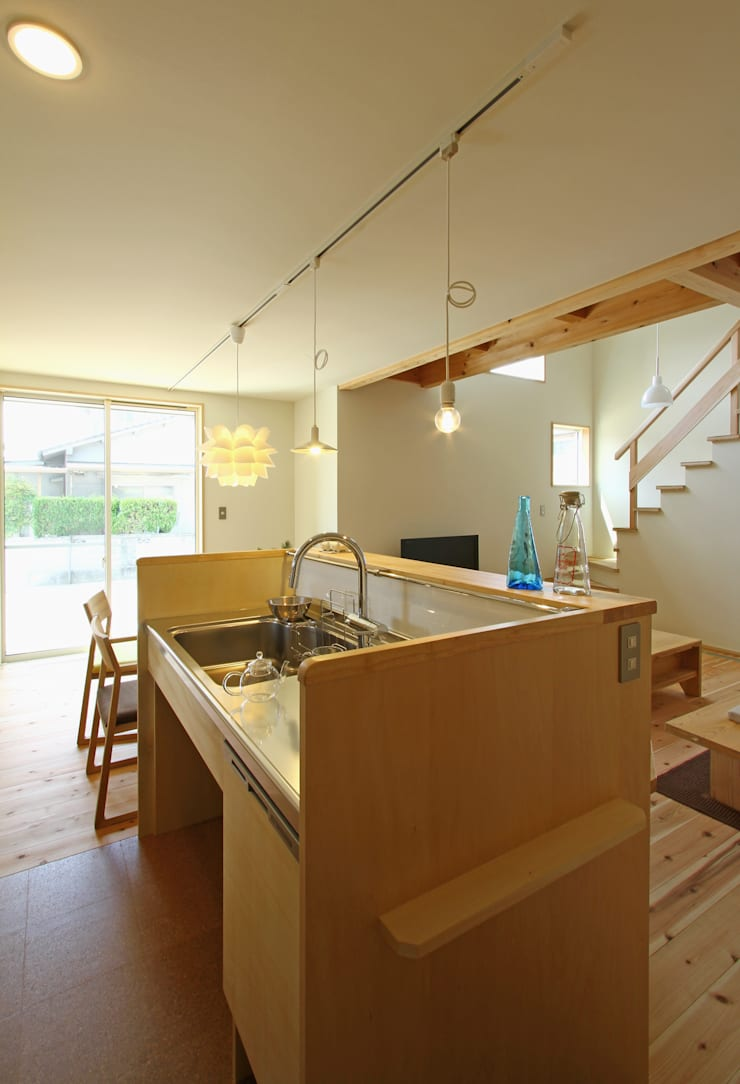下岩成の家: 有限会社 コアハウスが手掛けたキッチンです。,北欧