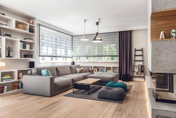 Dom prywatny 2013: styl , w kategorii Salon zaprojektowany przez formativ. indywidualne projekty wnętrz,Skandynawski