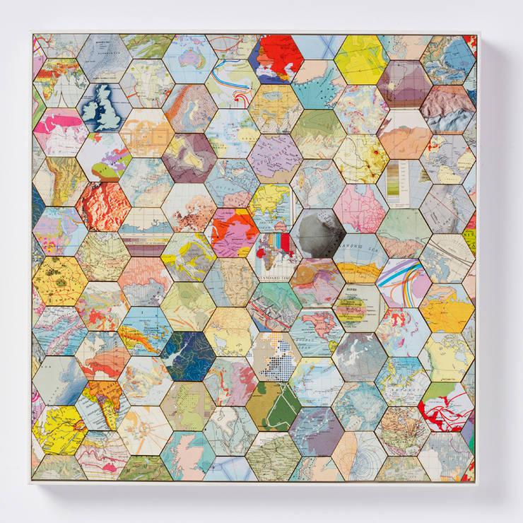 Patchwork world three:  Artwork by Bombus