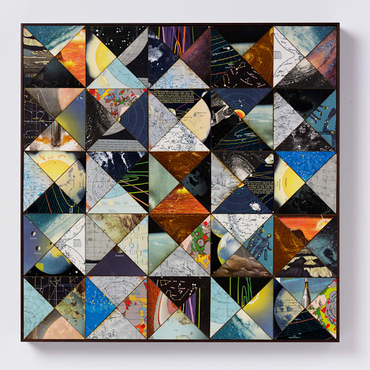 Patchwork space:  Artwork by Bombus