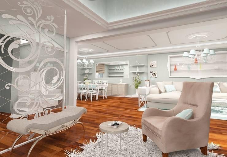 mediterranean Living room by İdea Mimarlık