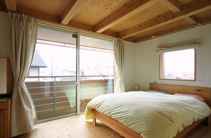 ちょこなん家: 有限会社 コアハウスが手掛けた寝室です。