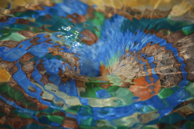 Tuinfonteinen:  Tuin door Pottenbakkerij Heksenvuur, Mediterraan