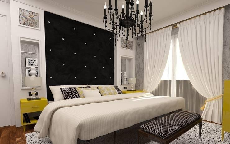 İdea Mimarlık – Ispartakule'de bir daire: modern tarz Yatak Odası