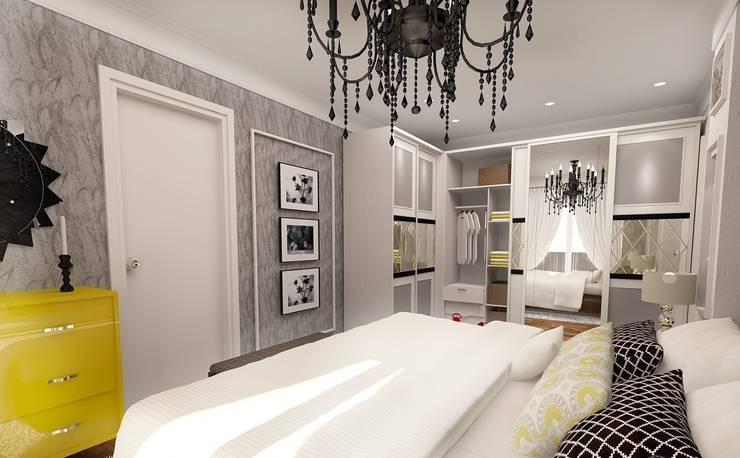 İdea Mimarlık – Ispartakule'de bir daire:  tarz Yatak Odası