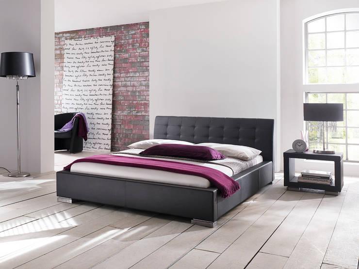 Łóżko IZA: styl , w kategorii Sypialnia zaprojektowany przez mebel4u,Nowoczesny