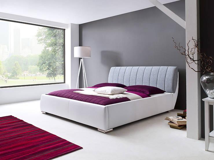 Łóżko LATINA z pojemnikiem i stelażem: styl , w kategorii Sypialnia zaprojektowany przez mebel4u,Nowoczesny