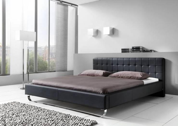 Łóżko PLAZA białe lub czarne: styl , w kategorii Sypialnia zaprojektowany przez mebel4u,Minimalistyczny