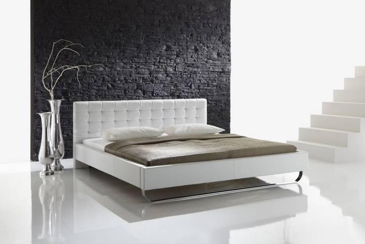 Łóżko PLAZA białe lub czarne: styl , w kategorii  zaprojektowany przez mebel4u,Nowoczesny