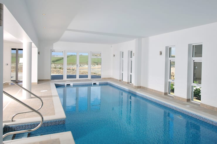 The Sea House, Porth, Cornwall:  Pool by The Bazeley Partnership