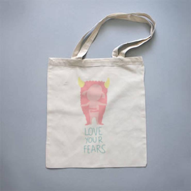 "Tote bag ""Love your fears"": Arte de estilo  de Lyona"