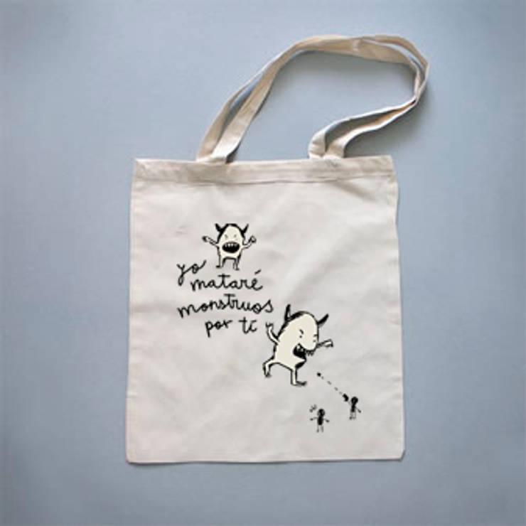 """Tote bag """"Yo mataré monstruos por ti"""": Arte de estilo  de Lyona"""