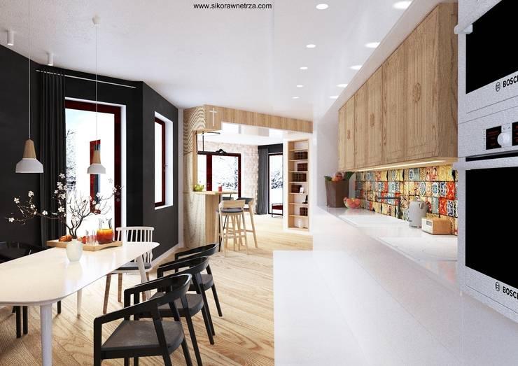 DOM w Gdańsku: styl , w kategorii Kuchnia zaprojektowany przez Sikora Wnetrza