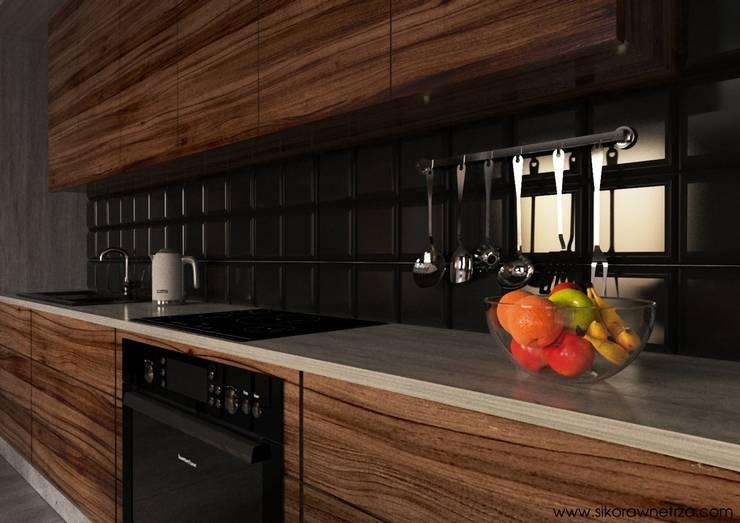 APARTAMENT GARNIZON W GDAŃSKU: styl , w kategorii Kuchnia zaprojektowany przez Sikora Wnetrza,