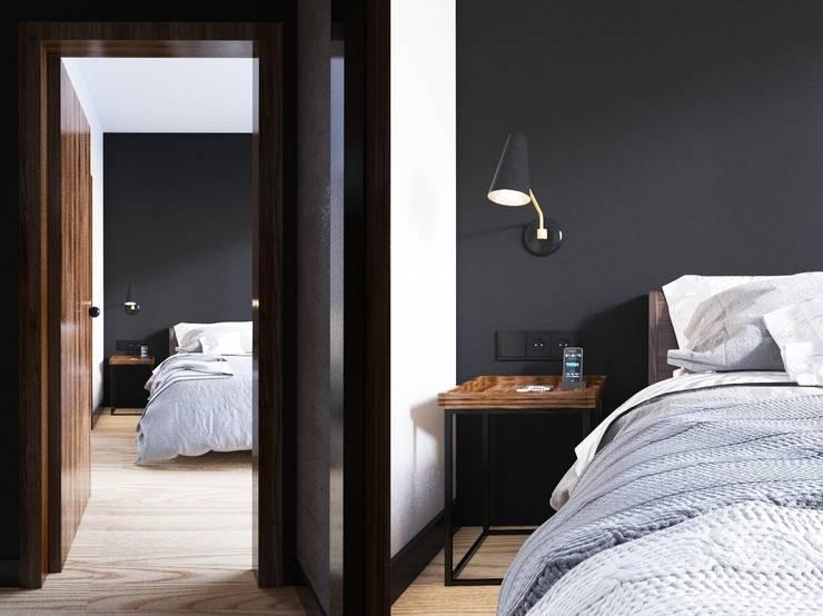 APARTAMENT GARNIZON W GDAŃSKU: styl , w kategorii Sypialnia zaprojektowany przez Sikora Wnetrza,