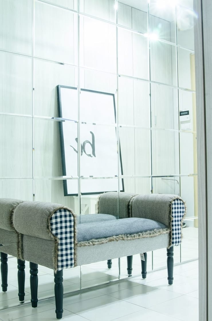 MIESZKANIE W SZAROSCIACH: styl , w kategorii Korytarz, przedpokój zaprojektowany przez I Home Studio Barbara Godawska