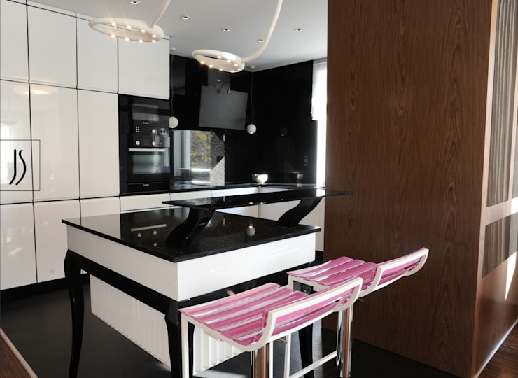 APARTAMENT FUSION: styl , w kategorii Kuchnia zaprojektowany przez Sikora Wnetrza