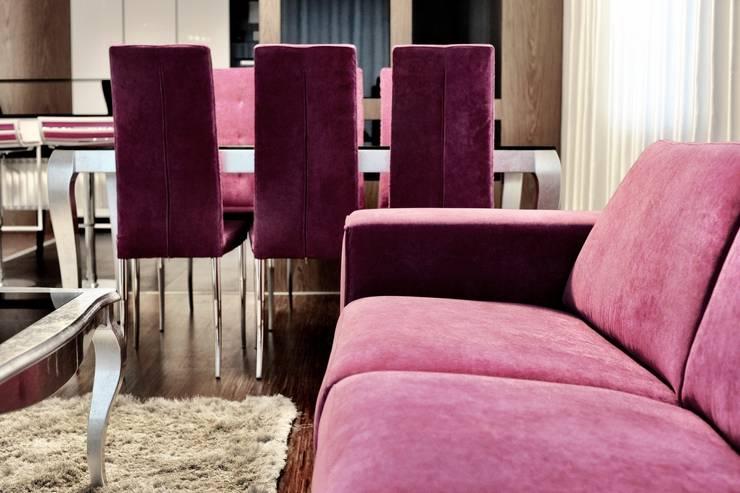 APARTAMENT FUSION: styl , w kategorii Salon zaprojektowany przez Sikora Wnetrza
