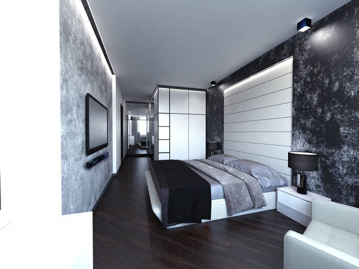 Спальня: Спальни в . Автор – Архитектурное бюро 'АрхСлон'