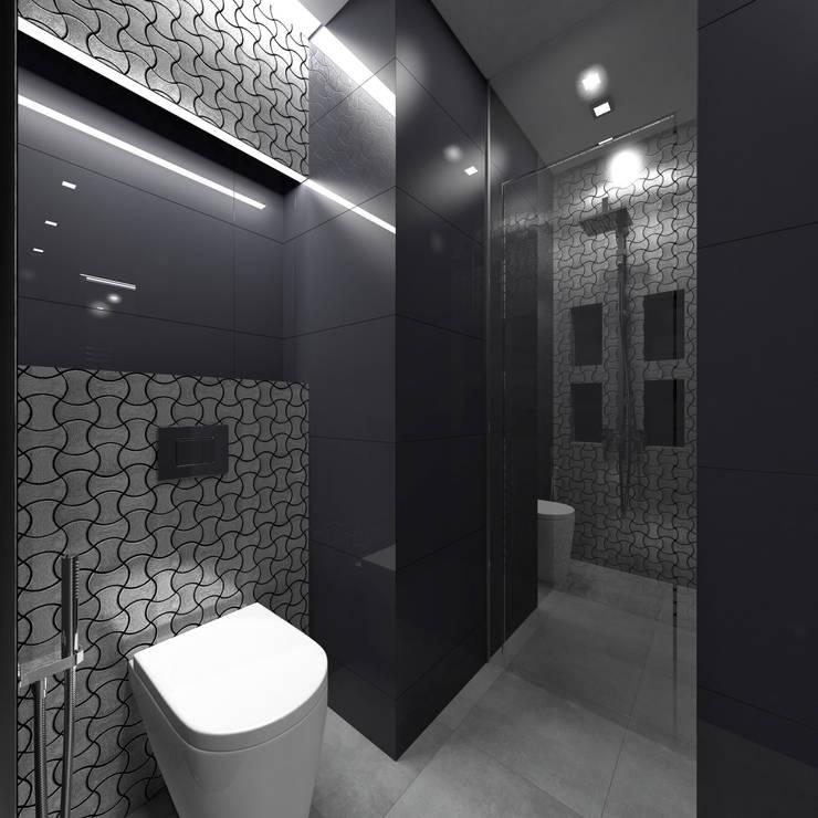 Ванная: Ванные комнаты в . Автор – Архитектурное бюро 'АрхСлон'