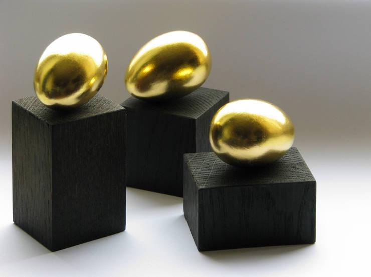 """Dekoracja """"Złote jajko"""" komplet : styl , w kategorii Sztuka zaprojektowany przez Galeria AtmoSfera"""