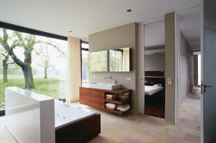 Projekty,  Łazienka zaprojektowane przez Markus Gentner Architekten