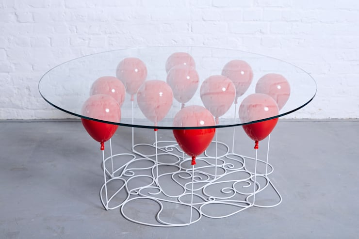 UP Balloon Coffee Table, Round Edition 2015: eclectic Living room by Duffy London