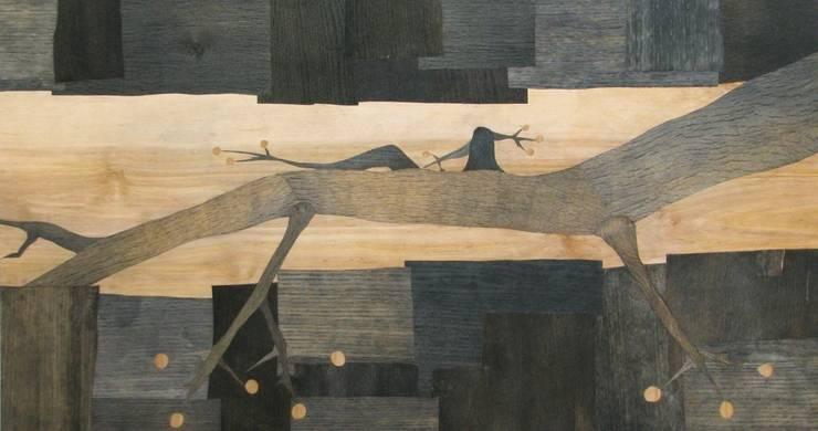 """Współczesna intarsja """"Geko"""": styl , w kategorii Sztuka zaprojektowany przez Galeria AtmoSfera"""