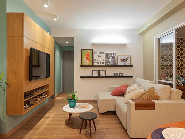 Salas de estilo  por Isabela Bethônico Arquitetura
