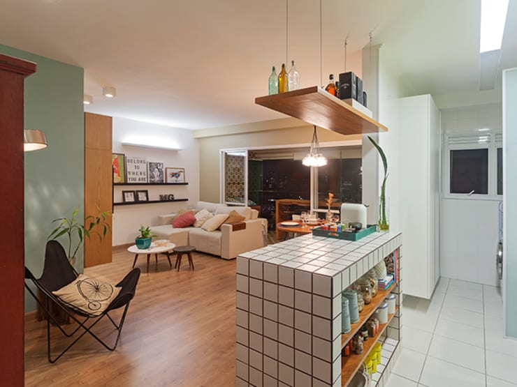 Salas / recibidores de estilo moderno por Isabela Bethônico Arquitetura