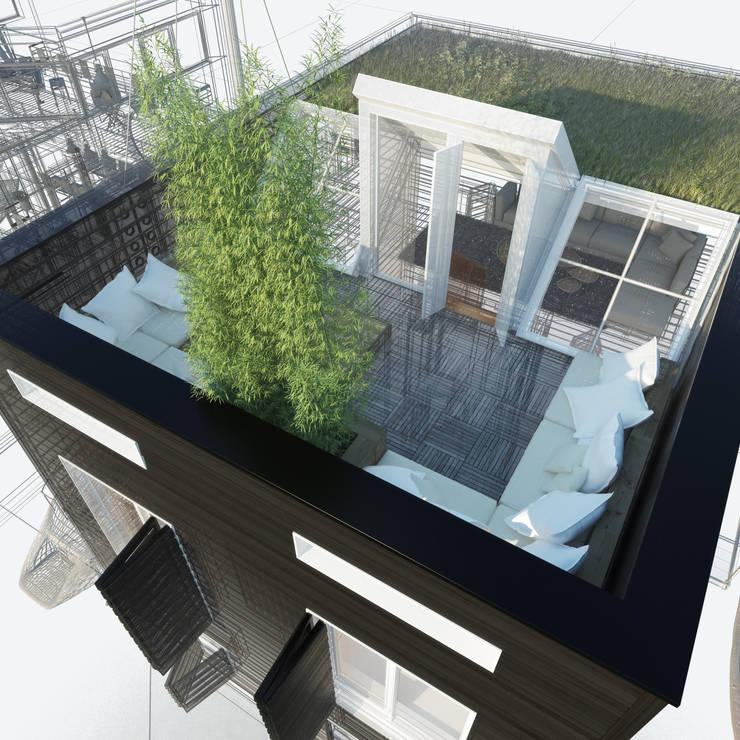 Loods:  Terras door M&M Watervilla, Modern