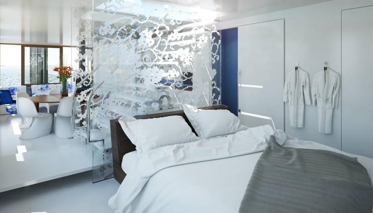 Pied a L' eau Moderne slaapkamers van M&M Watervilla Modern