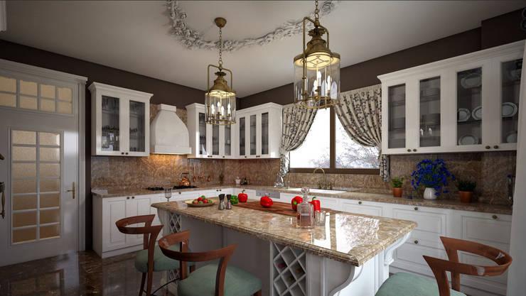 erenyan mimarlık proje&tasarım – MUTFAK VE BANYO TASARIMLAR:  tarz Mutfak, Rustik