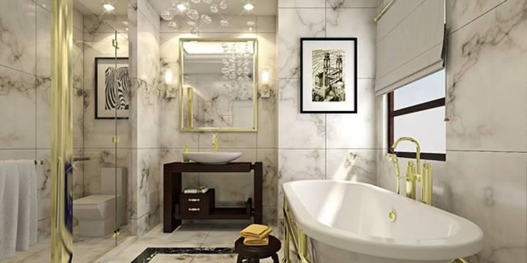 erenyan mimarlık proje&tasarım – MUTFAK VE BANYO TASARIMLAR:  tarz Banyo, Kırsal/Country