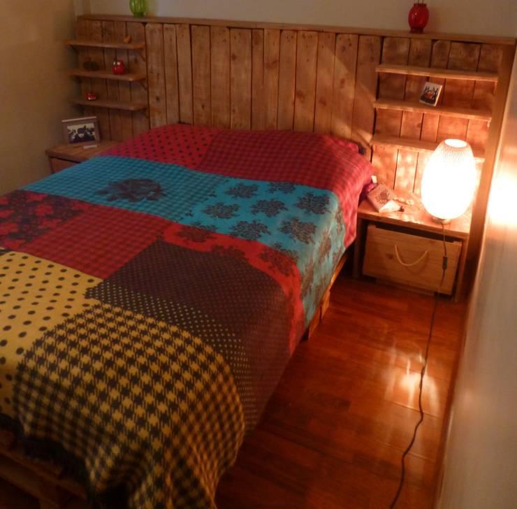 Atölye Butka – Palet Yatak Odası:  tarz Yatak Odası