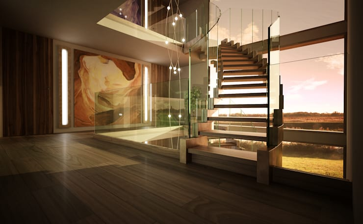 Corredor, hall e escadas  por Siller Treppen/Stairs/Scale