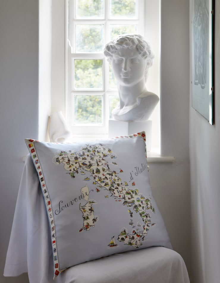Silk Memento Cushions - Italy:  Household by RE